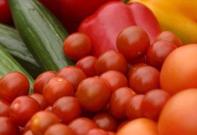 groente groenten paprika komkommer