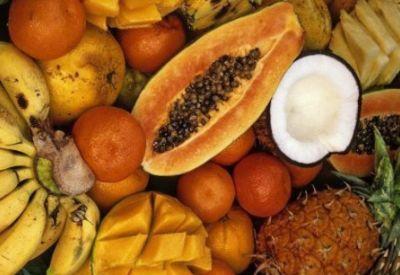 exotisch fruit kokosnoot mango